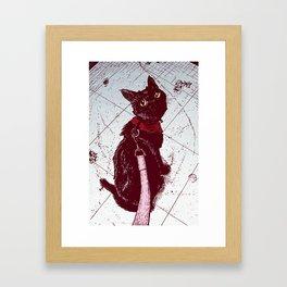 Cat on a Leash Framed Art Print