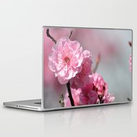 cherry blossoms Laptop & iPad Skins featuring Cherry Blossoms by Zen and Chic