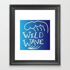 Wild Wave Framed Art Print