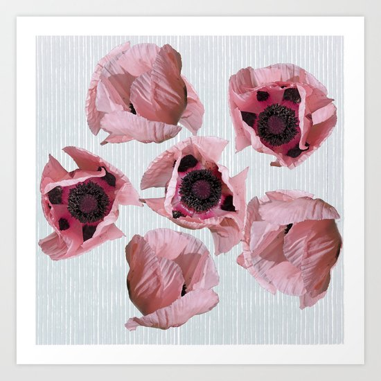 Perfection in a poppy Art Print