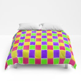 Bright checkered  Comforters