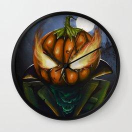 pumkin owl Wall Clock