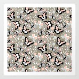 Butterfly pattern 002 Art Print