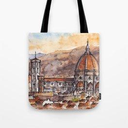 Florence ink & watercolor illustration Tote Bag