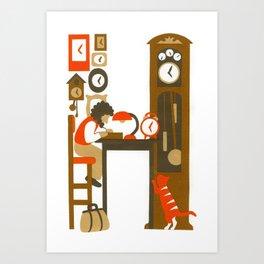 H as Horloger (Watchmaker) Art Print