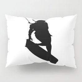 A Kitesurfers Freestyle Silhouette Pillow Sham