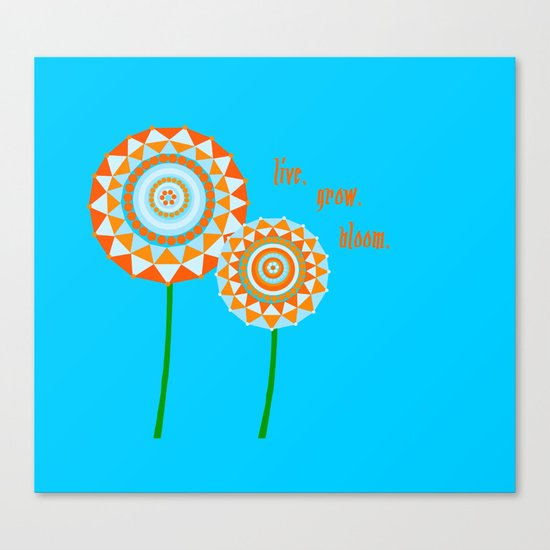Blue Blooms Canvas Print