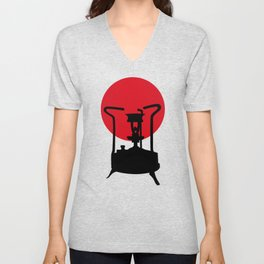 Flag of Japan | Vintage Pressure Stove Unisex V-Neck