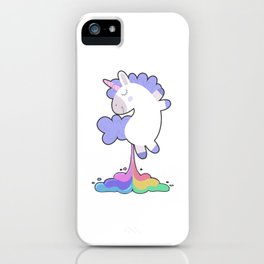 Unicorn Fart Magical Creatures Rainbow Magic Fantasy Fairytale Myth Horse Lovers Gift iPhone Case