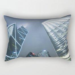 Hong Kong Night City Rectangular Pillow