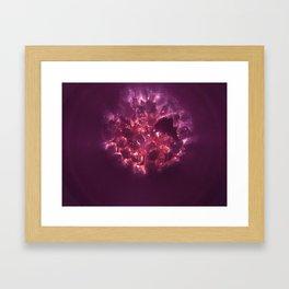 Purple Glow Framed Art Print