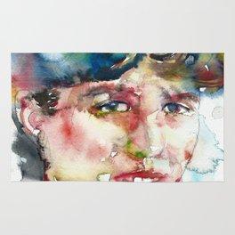 SYLVIA PLATH - watercolor portrait Rug