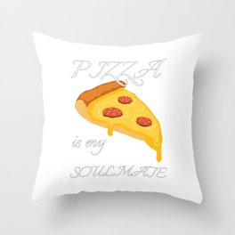 Show your endless infinite love Soulmate T-Shirt Pizza Throw Pillow