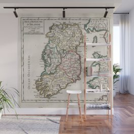 Vintage Map of Ireland (1748) Wall Mural