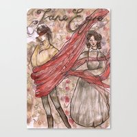 jane eyre Canvas Prints featuring Jane Eyre. An Autobiography  by Sarah Mary Street