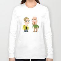 jesse pinkman Long Sleeve T-shirts featuring Mr White & Jesse Pinkman by HypersVE