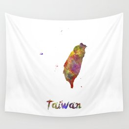 Taiwan in watercolor Wall Tapestry