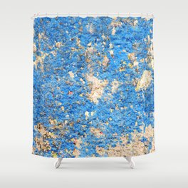 Textures in Blue Shower Curtain