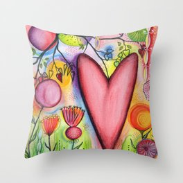 Many Hearts Heal Throw Pillow