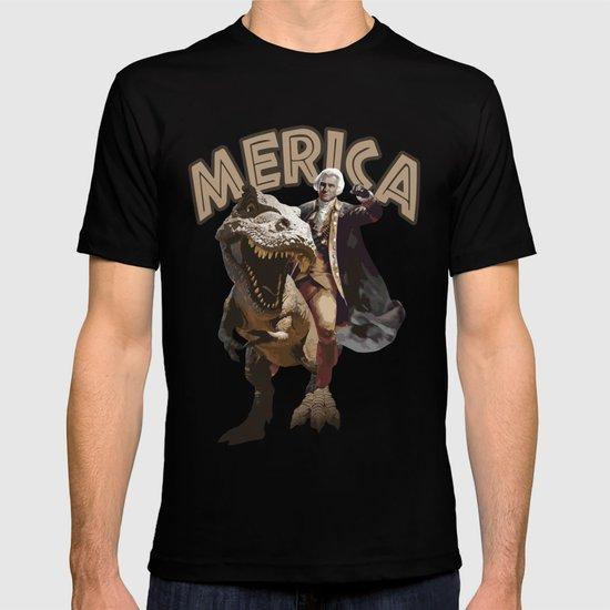 George Washington Riding a Tyrannosaurus Rex T-shirt by ...