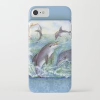 dolphins iPhone & iPod Cases featuring Dolphins by Natalie Berman