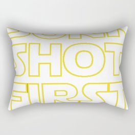 Burr shot first Rectangular Pillow