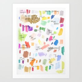 Enneagram Affirmations Art Print