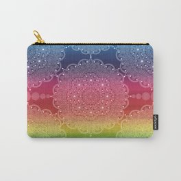 Rainbow Pearl Mandala Blue Purple Red Yellow Green Carry-All Pouch
