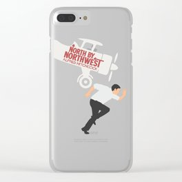 North by northwest, Alfred Hitchcock minimal movie poster, thriller, Cary Grant, Eva Marie Saint Clear iPhone Case