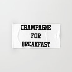 Champagne For Breakfast Hand & Bath Towel