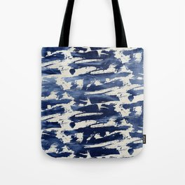 Contemporary Abstract: Blue Splashes of Paint Tote Bag