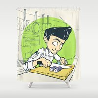 cook Shower Curtains featuring Cook Life by paul nunez