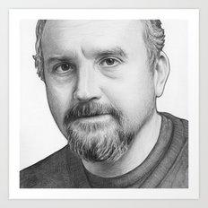 Louis CK Portrait Art Print