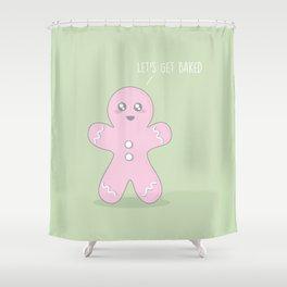 Let's Get Baked #kawaii #christmas Shower Curtain