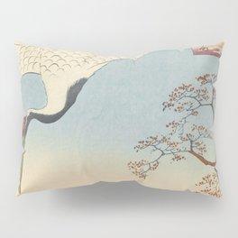 Red-crowned Crane Vintage Ukiyo-e Japanese Art Pillow Sham