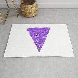 Purple Slice of Pizza! Rug