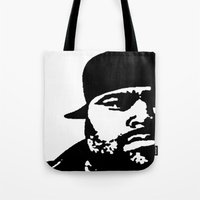 punisher Tote Bags featuring Punisher by Rack the Crown