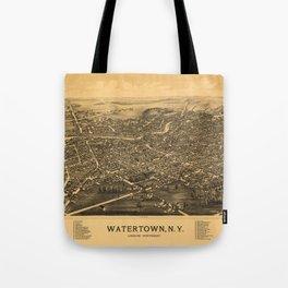Aerial View of Watertown, Wisconsin (1885) Tote Bag
