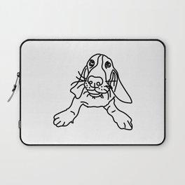 Basset Hound Dog (b/w) Laptop Sleeve