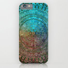 Cold Metal Flower Mandala iPhone Case