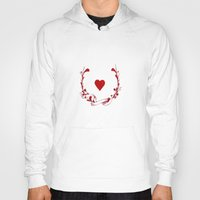 poker Hoodies featuring POKER HEART  by Noly Riv Mir