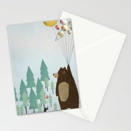 the astrology bear Stationery Cards