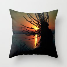 The world is burning Throw Pillow