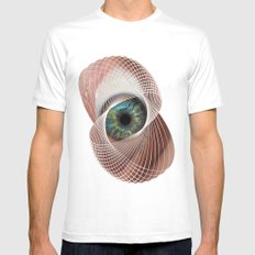 Mobius Eye Seeing All, Infinite Vision SMALL Mens Fitted Tee White