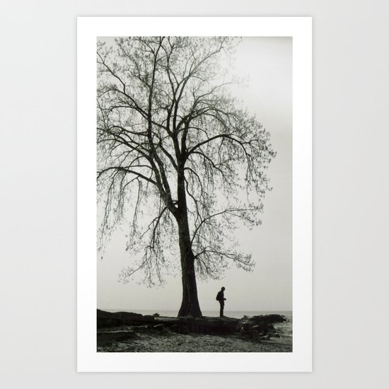 A Greater Understanding of the Universe Through Solitude Art Print