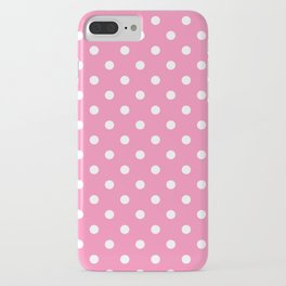 Pink & White Polka Dots iPhone Case