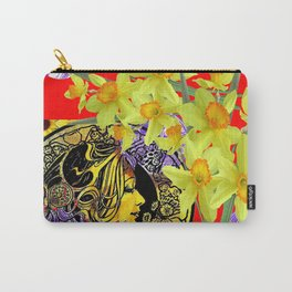 RED ART NOUVEAU MAGIC OF SPRING Carry-All Pouch