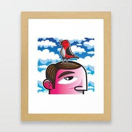 #ReTweet Framed Art Print