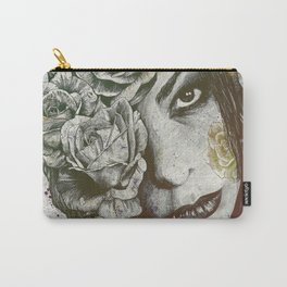 Of Suffering: Autumn (dark lady portrait with roses) Carry-All Pouch