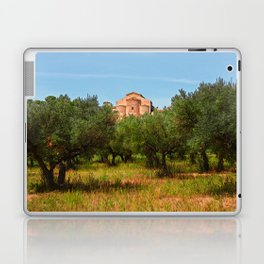 Medieval Abbey among olive trees in Italy Laptop & iPad Skin